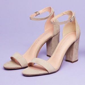 Madden girl beella suede ankle block heels